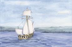 America's first transatlantic ship