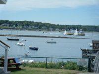 September: Orr's-Bailey Yacht Club mooring field on Orrs Island, Maine