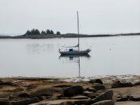 Late start, halting progress, Andrews Island