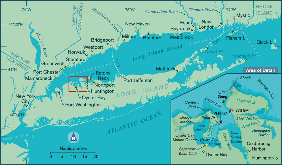 Oyster Bay New York Map.The Bay Of Oysters Points East Magazine