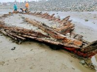 Historic shipwreck exposed again