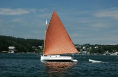 Bill Cheney's Penelope, the catboat/muse responsible for this article.  Photo courtesy Bill Cheney