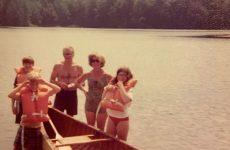 Photo by Jonathan JayThe author (in back) with his siblings and parents around the family canoe at Gregg Lake in Antrim, N.H. in the mid-1970s. Peeling paint can be seen on the canvas hull.