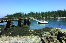 Photo by Tim PlouffThe mail boat dock in Duck Harbor, Acadia National Park, Isle au Haut. There's a trailhead further up the cove.