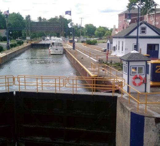 Outward bound from Baldwinsville, N.Y., headed west, looking out over Lock 24.Photo by Dick Allen