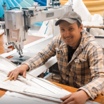 Hallett Sails shifts to mask making