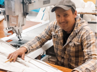 Hallett Sails shifts to mask making