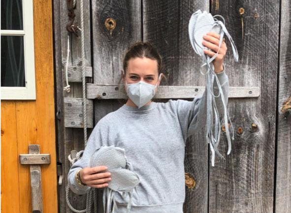 Sperry Sails stitchers making masks