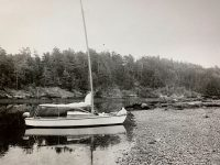 """Photo by David BuckmanThe author explored the New England and Fundy coasts aboard this Lightning """"Weekender"""" for many years."""