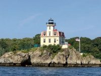 Ponham Rocks Light, in the Providence River. Photo courtesy Roger Kalenbach