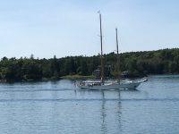 Schooner EROS in Fox Island Thorofare