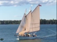 Schooner Ladona in Fox Island Thorofare