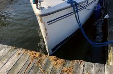 Photo by Kevin AdamczykStorm damage at my buddy's marina. What a fight the boat and dock must have had.