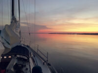 Photo by Bob MugglestonEarly morning off the coast of Rhode Island. What an escape being on the water is, especially in tough times.