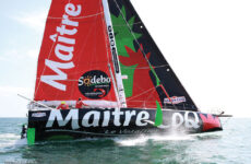 Photo courtesy Stéphanie Gaspari/Vendée GlobeThe high-flying, Verdier-designed Class40 Maître CoQ IV, which was originally designed for the 2016 Vendée Globe.