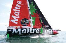 Photo courtesy Stéphanie Gaspari/Vendée GlobeThe high-flying, Verdier-designed Class40 Maître CoQ IV, which was originally designed for the 2016 Vendée Globe.