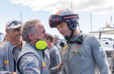 Photo courtesy Luna Rossa Prada Pirelli TeamItaly's excellent driver, Jimmy Spithill (right), is Australian. 'Nuff said.