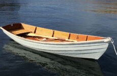 Photo courtesy Jack FarrellHenry's new skiff on a calm day.