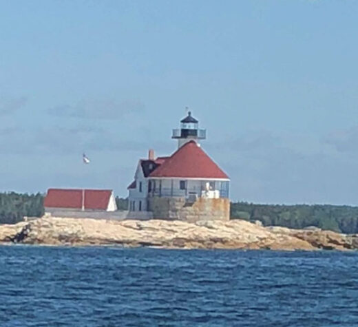 Photo by Joel GleasonCuckholds Lighthouse, in calmer weather.