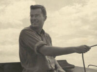Photo courtesy Dudley DudleyTom Dudley engaged in one of his favorite pastimes, sailing.